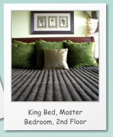 King Bed, Master Bedroom, 2nd Floor